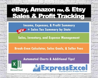 Square Up Sales Profit Tracking Break Even Calculator Etsy