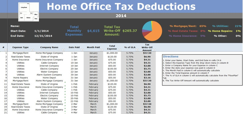 Home Office Tax Deductions Tracking Tax Write Off