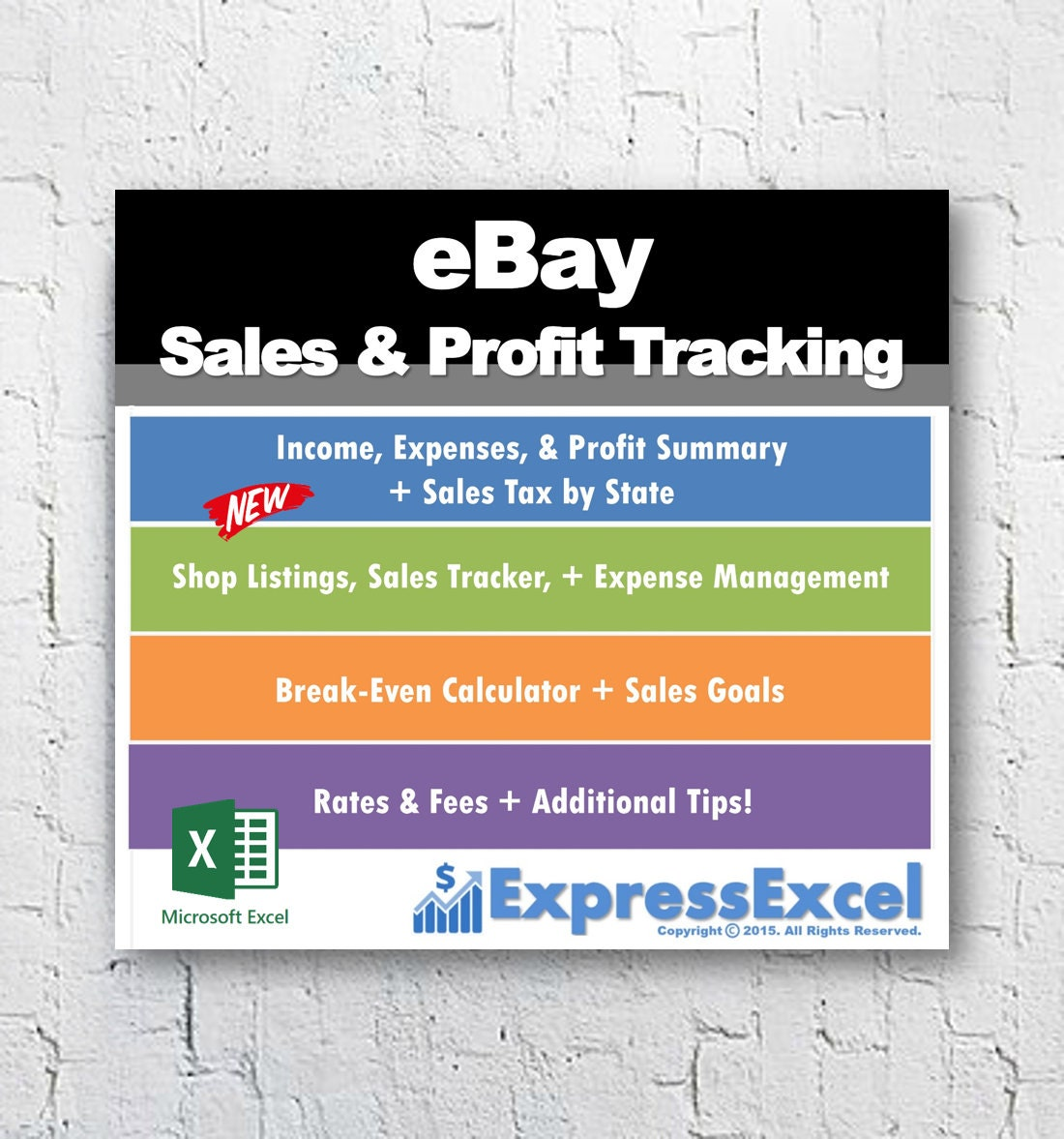 eBay Sales & Profit Tracking + Break Even Calculator | Microsoft Excel  Spreadsheet | US UK and Germany | Mac + PC | Instant Download