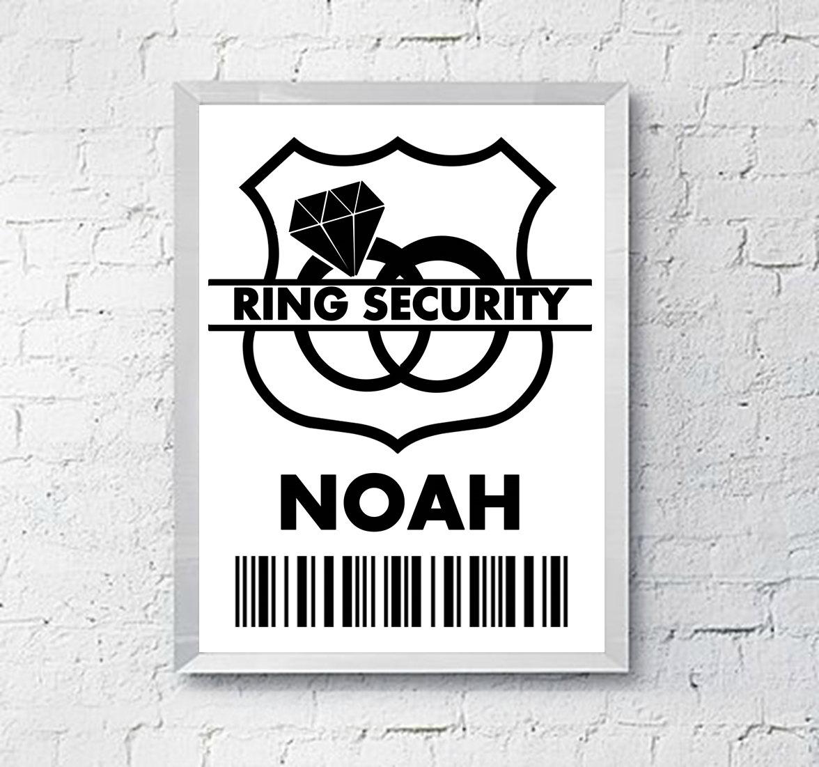Wedding Ring Security Badge Ring Bearer Gift Digital Etsy