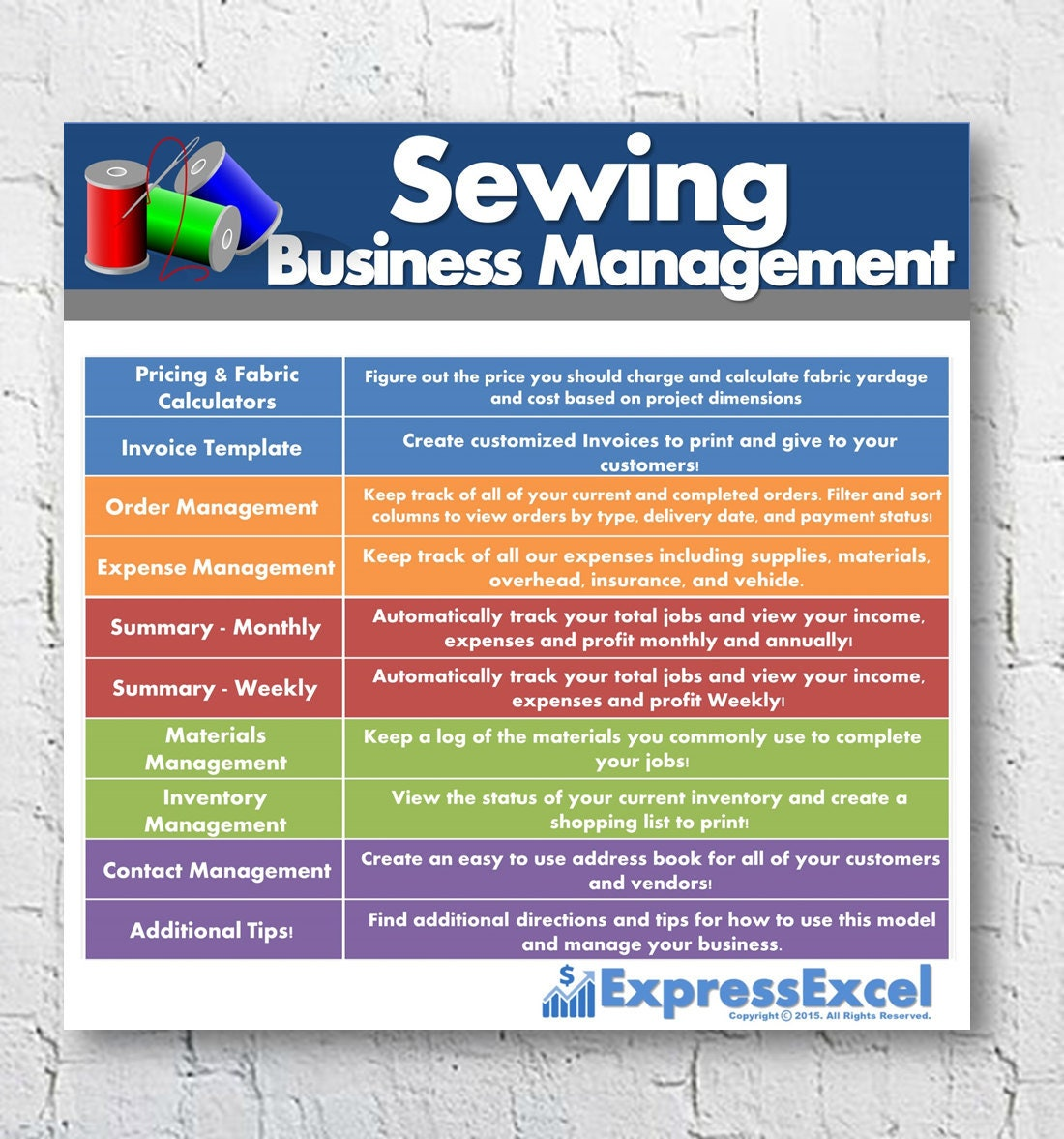 Sewing Alterations Business Management Software Order Etsy - Free templates for invoices printable women's clothing stores online