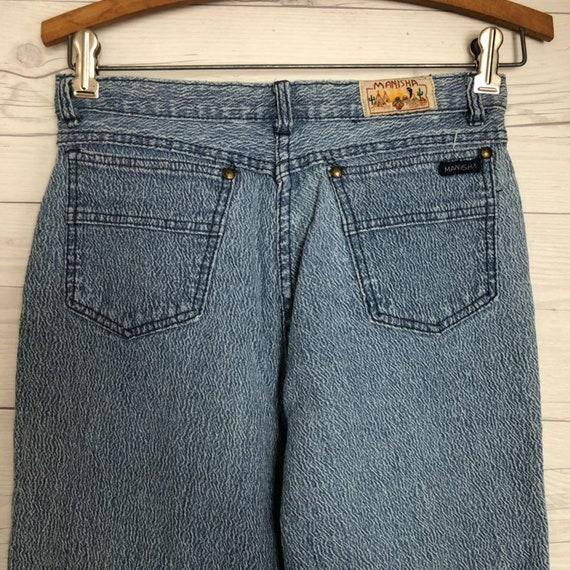 Vintage Manisha Mom Jeans Denim High Waist Ankle Zip Womens Vtg Clothes 26
