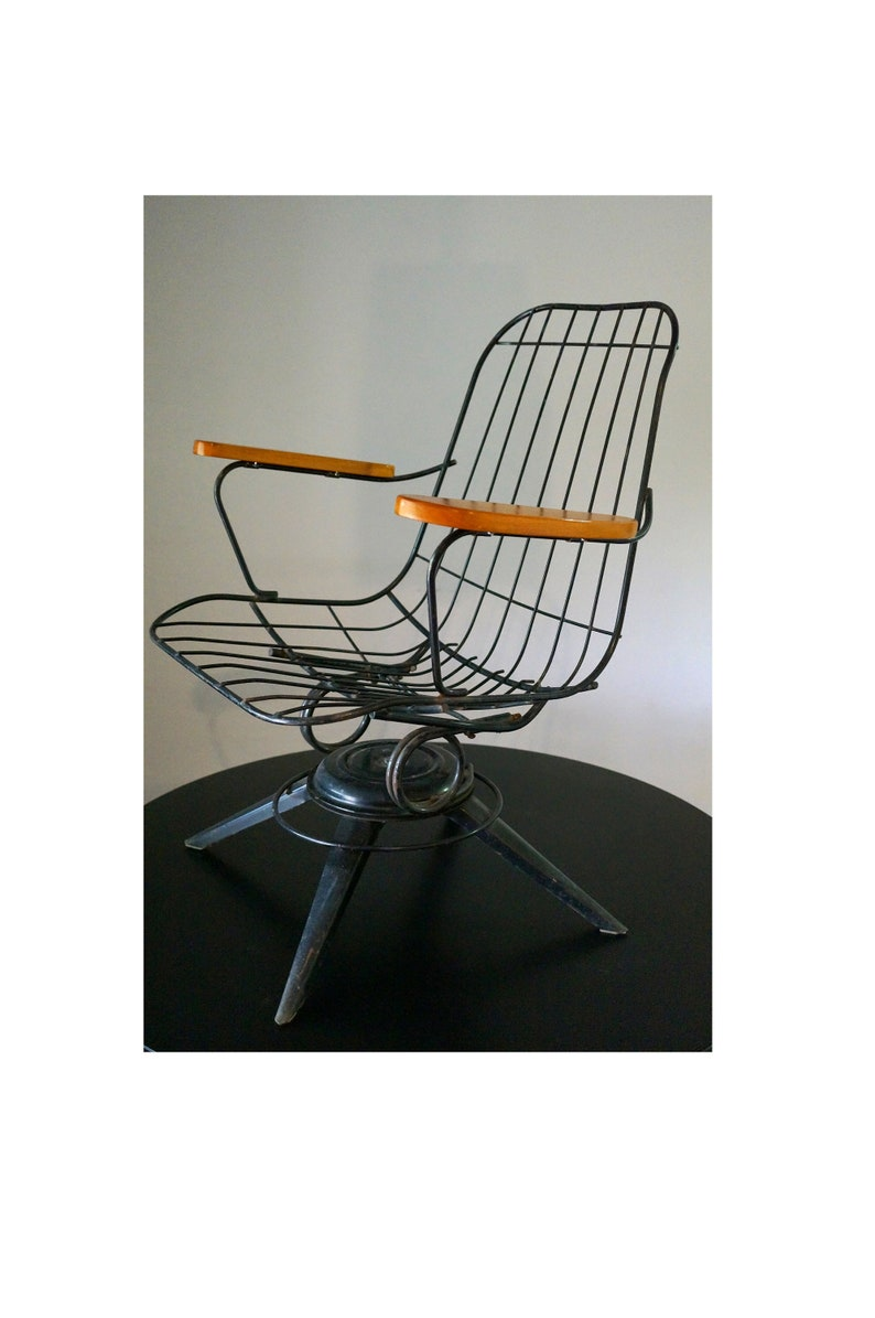 Miraculous Mid Century Modern Homecrest Chair 1960S Eames Era Model B25 Headliner Vintage Homecrest Steel Rocking Chair Meatl Wire Patio Chair Machost Co Dining Chair Design Ideas Machostcouk