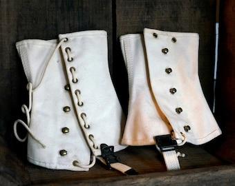 Vintage Spats, Gaiters, Leggings, Vintage Collectibles, Vintage Clothing, Vintage Accessories, Vintage Style, Steampunk Costume,