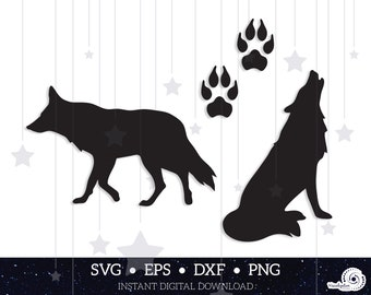 """/""""WOLF/"""" Coyote Howling Dog Wild Animal 8.5/"""" x 11/"""" Stencil Plastic Sheet NEW S45"""
