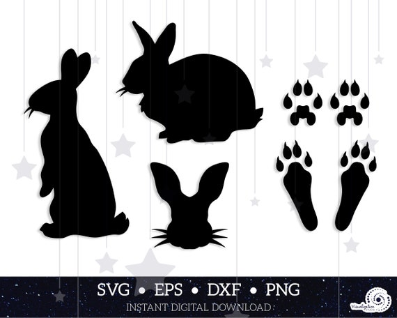 Bunny Rabbit Silhouettes | Vector Set | INSTANT DIGITAL DOWNLOAD | svg | dxf | eps | png
