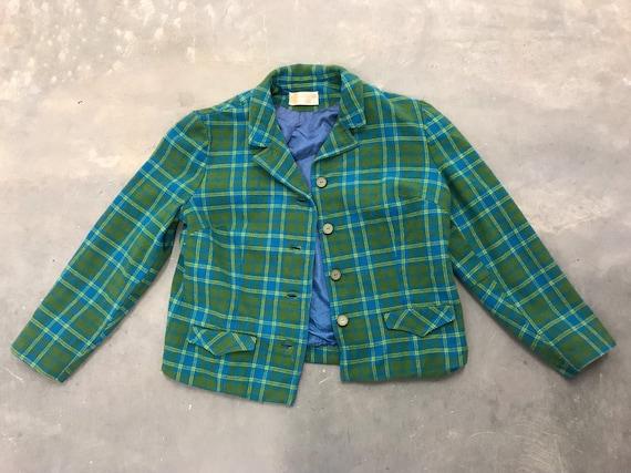Vintage 70s Pendleton Woolen Mills blue green blaz