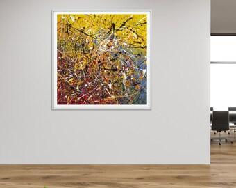 Modern Painting print, Colorful wall art prints, Living room art abstract print, Abstract Painting print, Extra Large Wall Art by RASKO