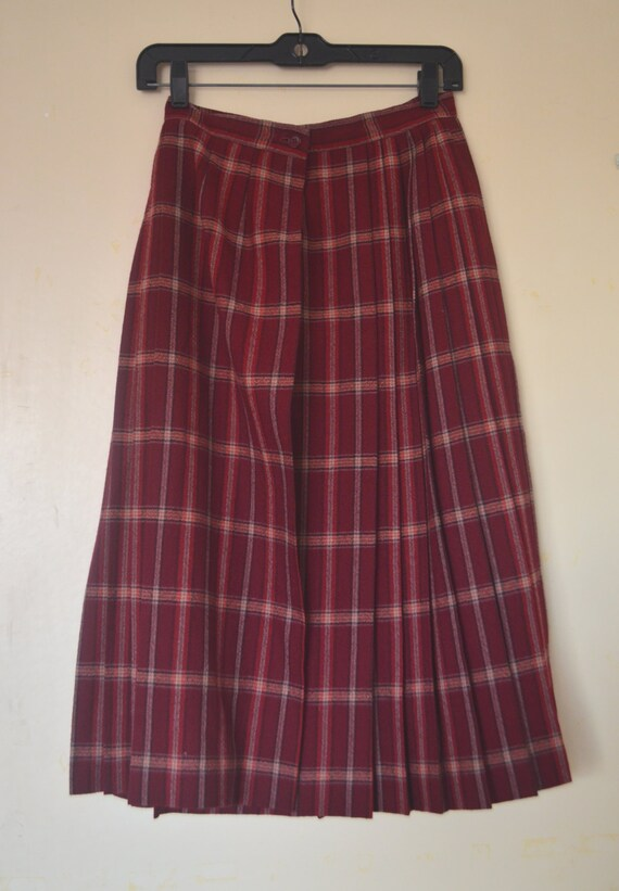 Vintage Luba 100% Heavy Wool Burgundy Red Black Tw
