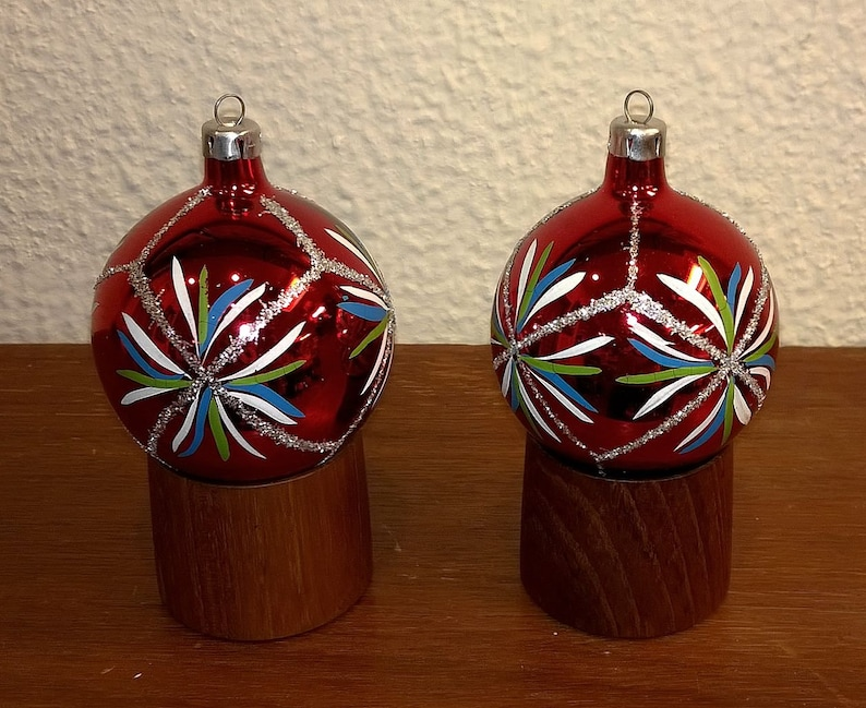 Christbaumkugeln Ornament.Vintage Glass Christmas Ornaments Nos With Box German Poland Hand Made Christbaumschmuck Christbaumkugeln 5