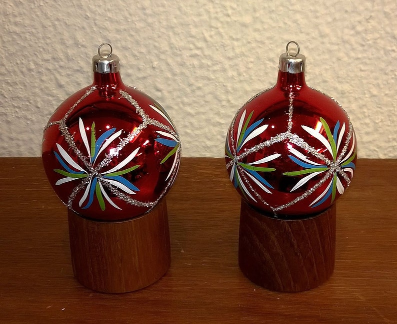 Box Christbaumkugeln.Vintage Glass Christmas Ornaments Nos With Box German Poland Hand Made Christbaumschmuck Christbaumkugeln 5