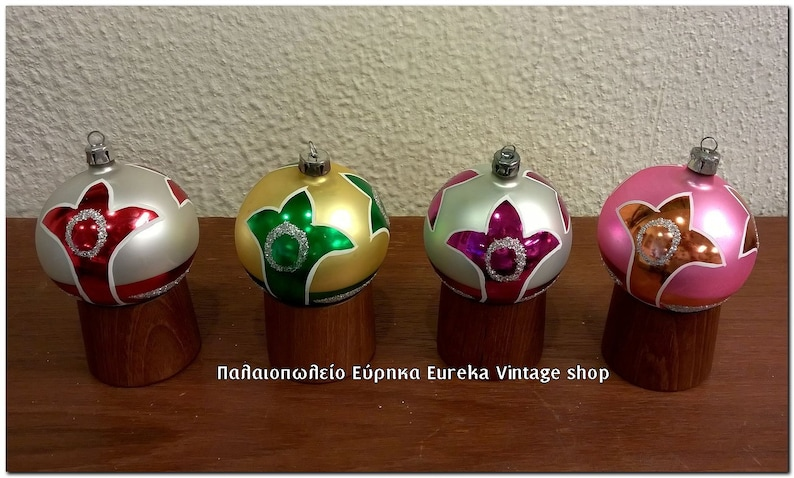 Box Christbaumkugeln.Vintage Glass Christmas Ornaments Nos With Box German Poland Hand Made Christbaumschmuck Christbaumkugeln 12