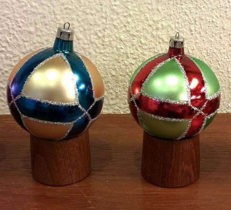 Christbaumkugeln At.Vintage Glass Christmas Ornaments Nos With Box German Poland Hand Made Christbaumschmuck Christbaumkugeln 19