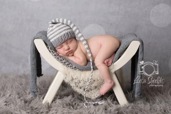 Baby Stocking Hat Pattern Knitting Tutorial Stripe Munchkin Etsy