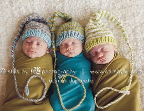 Baby Hat Knitting Pattern Long Tail Stocking Cap Pic Tutorial Etsy
