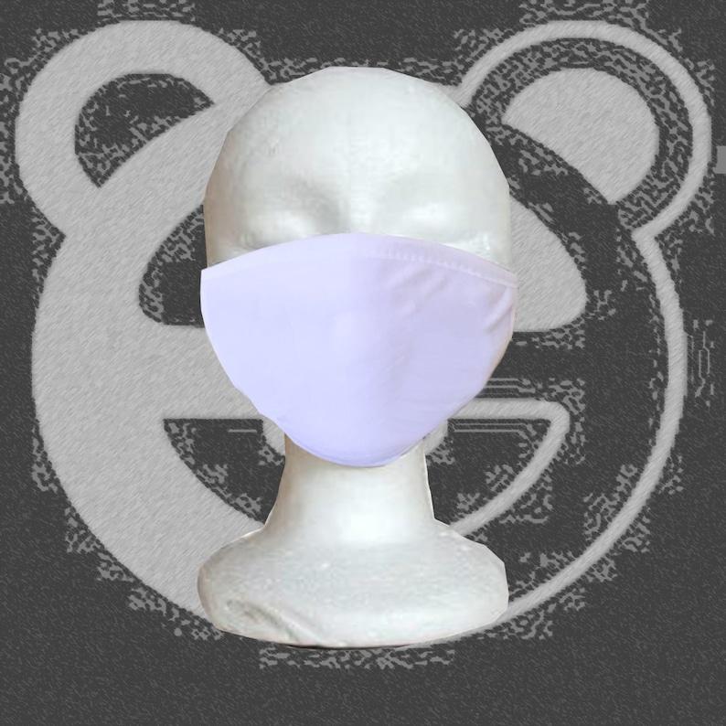 Cotton Face Mask Plain White