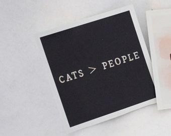 Cats > People Blue Charcoal & Cream Bubble-free sticker