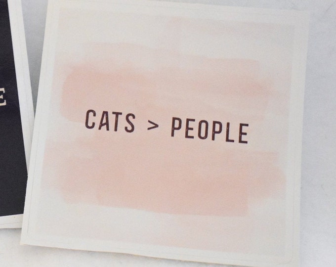 Cats > People Pink & Burgundy Bubble-free sticker