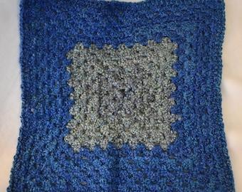 Cerulean & Teal Crochet Cat Mat featuring Super Soft Yarn