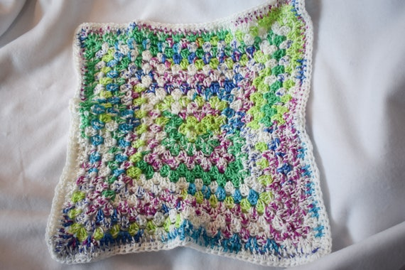 Vibrant Fair Isles Crochet Cat Mat -- Granny Square Style Pet Blanket