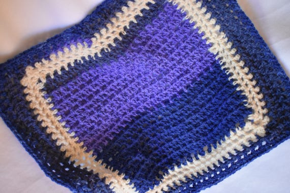 Purple & Blue Gradient Crochet Cat Mat