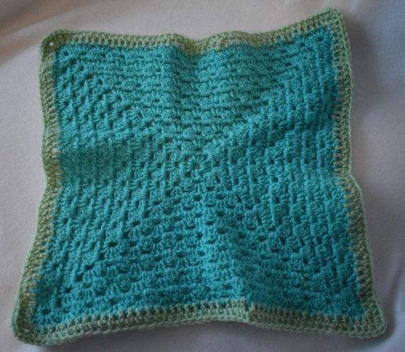 Teal & Pistachio Cat Mat -- Granny Square Style Pet Blanket