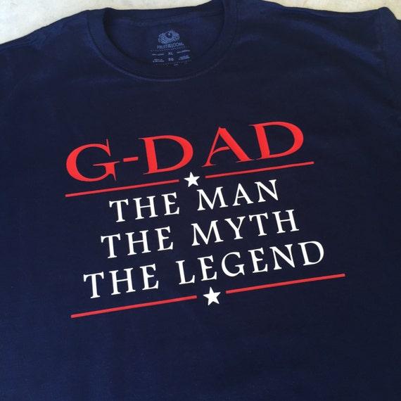 ... Papa homme mythe de légende Tee Shirt grand-papa, cadeau de mythe père, 43fb54b0253