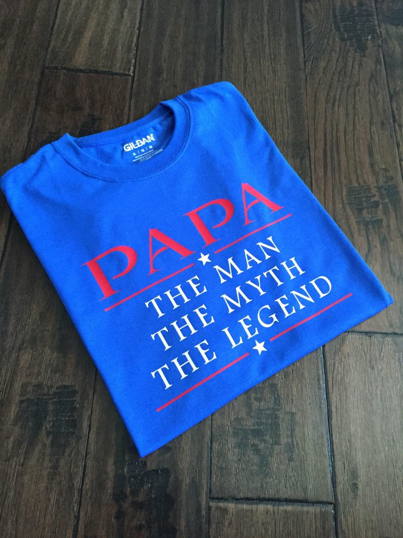 Papa homme mythe de légende Tee Shirt grand-papa, cadeau de mythe père, f09d2dcebb6