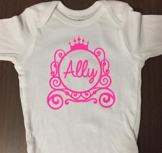 Disney Princess Shirt Monogram Onesie Princess Birthday