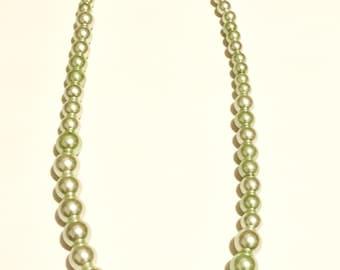 Peridot Pearl Necklace