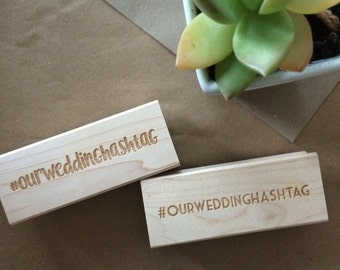 Hashtag stamp, wedding, celebrations