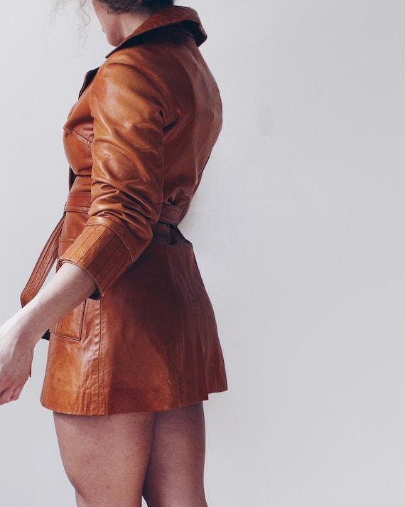 Size Medium Tan Buckskin Leather Jacket  Beige Boho Leather Coat  Ladies Leather Jacket  Women/'s Leather Coat  Light Brown Leather Coat
