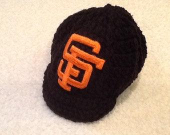 a1f66c26907 ... ebay san francisco giants newborn crochet baseball cap photographer  prop 63917 31283