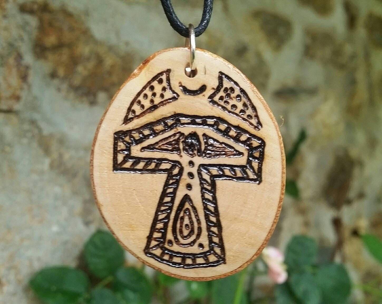 Thors Hammer Pendant Mjolnir Necklace Heathen Symbol Of Strength