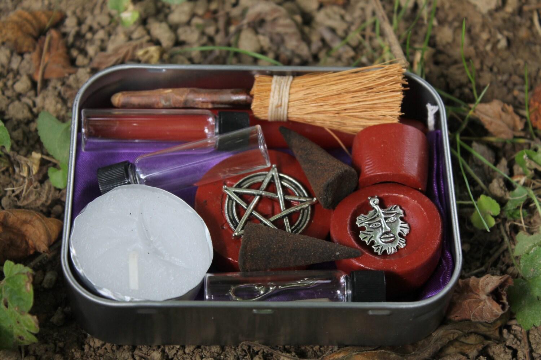 Pagan altar kit pocket altar box travel altar portable | Etsy