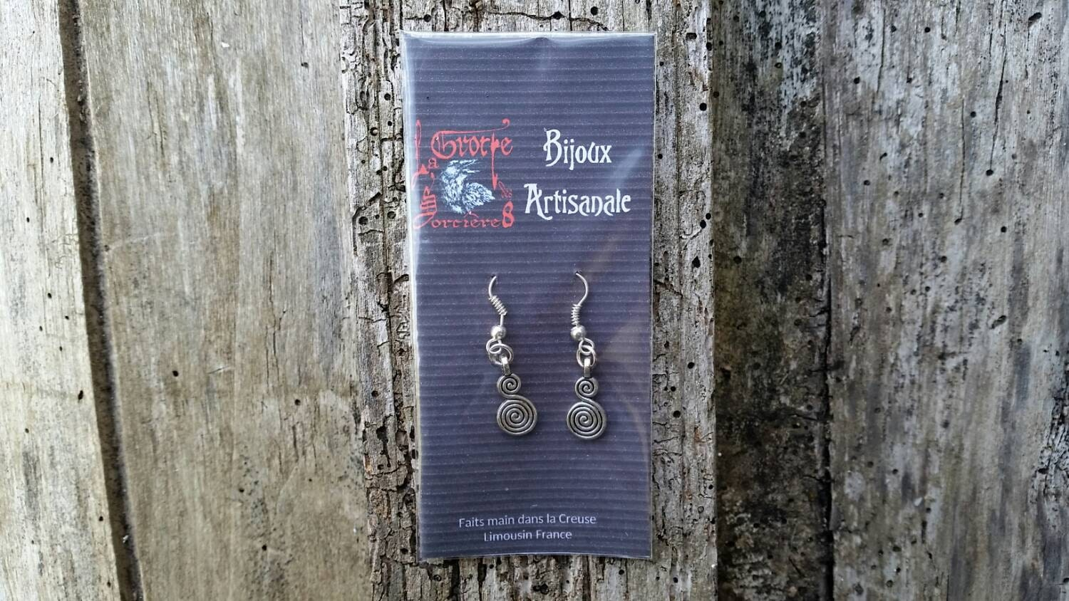 Celtic Spiral Earrings Life And Rebirth Symbol Celtic Wicca