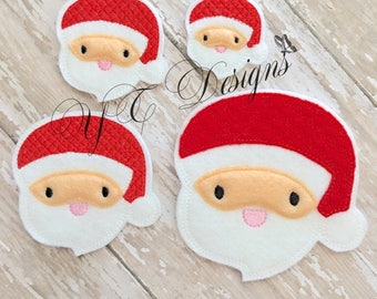 Santa Feltie St Nick Feltie Head Embroidery File