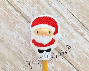 Santa Feltie St Nick Pencil Topper Embroidery File