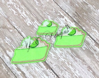 Key Lime Pie Feltie Pie Feltie Embroidery File
