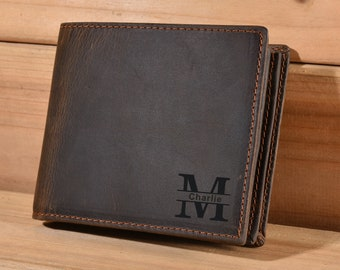 9b7ffa397e51 Mens Wallet Personalized Wallet Monogrammed Wallet Engraved Wallet Genuine  Leather Bifold Mens Wallet Anniversary Gift For Dad Gift For Him