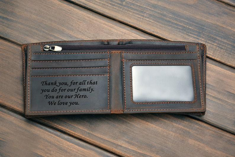 Mens Leather Wallets Engraved