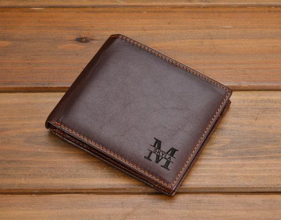 906529b29682 Wallet boyfriend gift mens wallet Bifold leather wallet