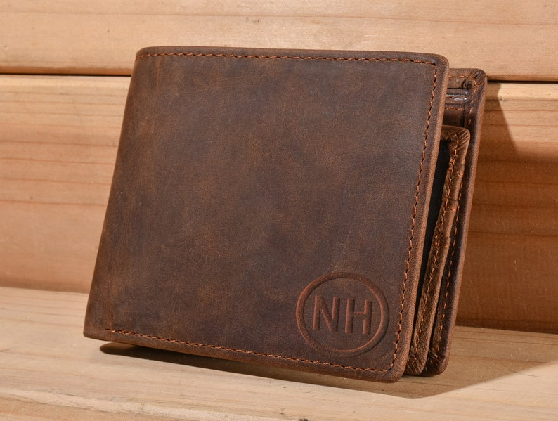 548e77ffa4dcd Personalized Men s Leather Wallet Custom