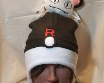 Pokemon meowth version pokepal team rocket plushie hat