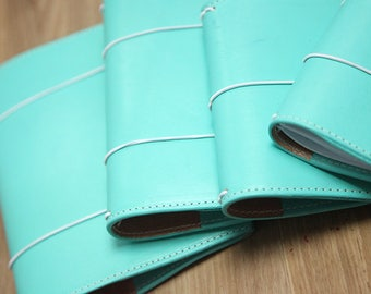 Tiffany Blue and Rose Gold Travelers Notebook