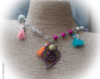 Colourful New Year New You celebration Necklace