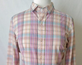 Plaid Shirt Vintage J.G. Hook Plaid Shirt
