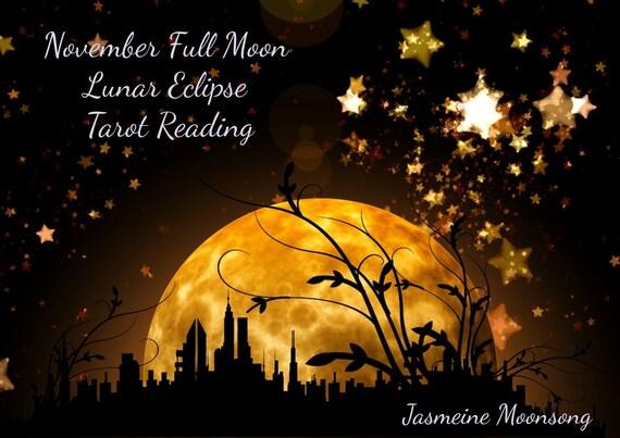 Full Moon Lunar Eclipse Tarot Journey