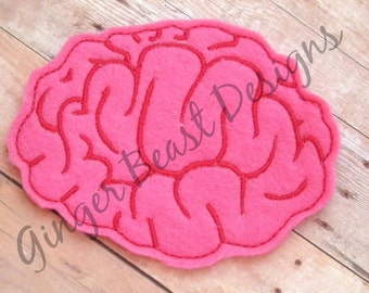 Brain Coaster ITH Machine Embroidery Design - 2 sizes and 8 formats