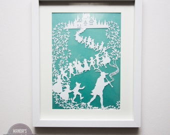 Framed Pied Piper papercut